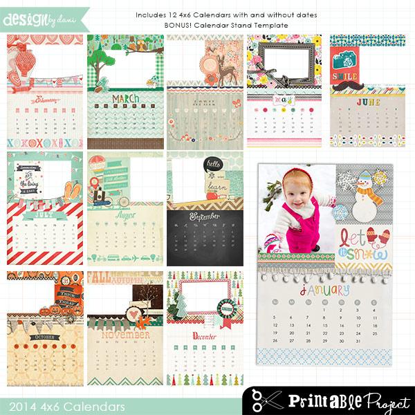 2014 4x6 Calendar