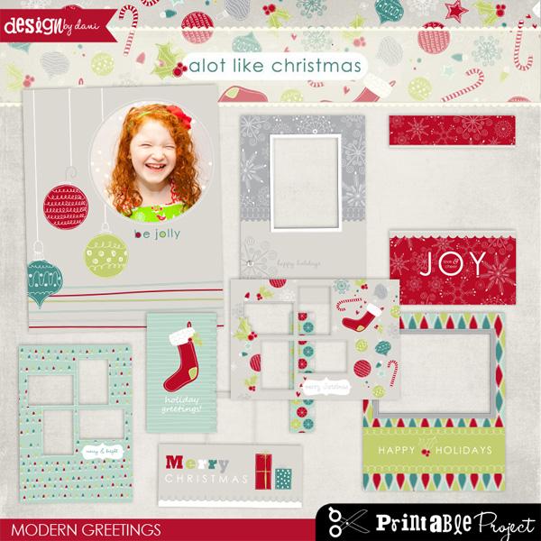 A Lot Like Christmas: Modern Greetings