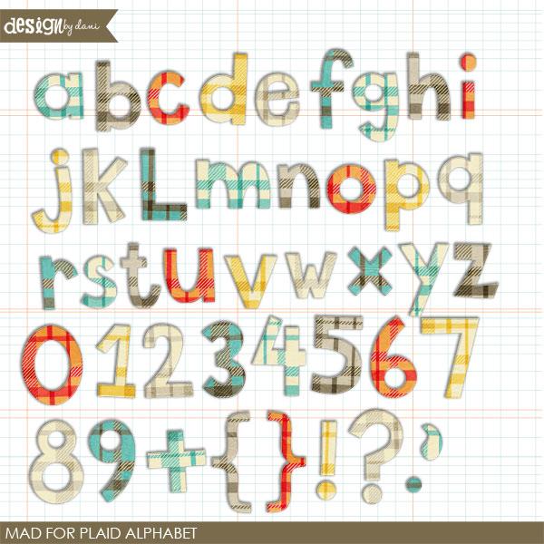 Mad For Plaid Alphabet