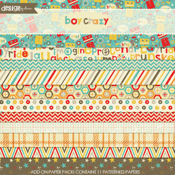 Boy Crazy Add-On Papers