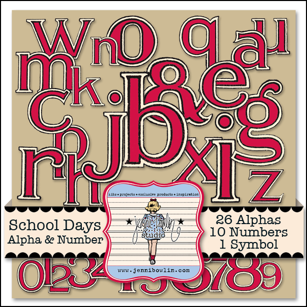 School Days Alphabet & Numbers