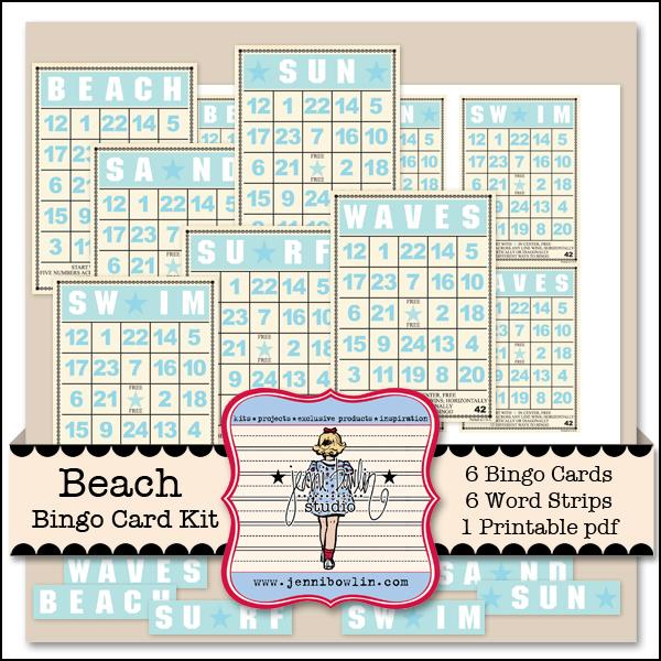 Beach Bingo Card Kit
