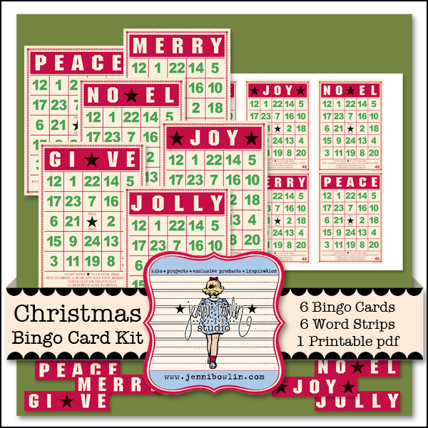 Christmas Bingo Card Kit