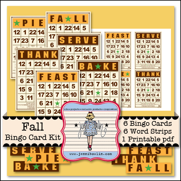 picture relating to Fall Bingo Printable referred to as Drop Bingo Card Package