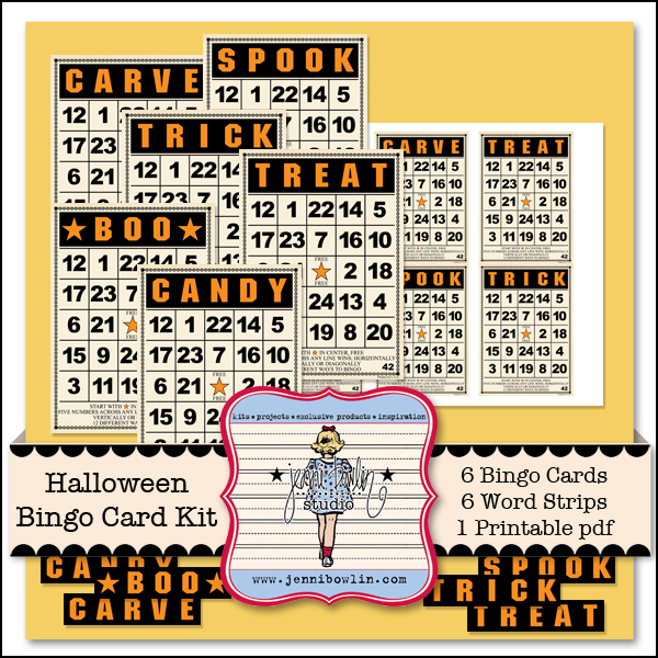 Halloween Bingo Card Kit
