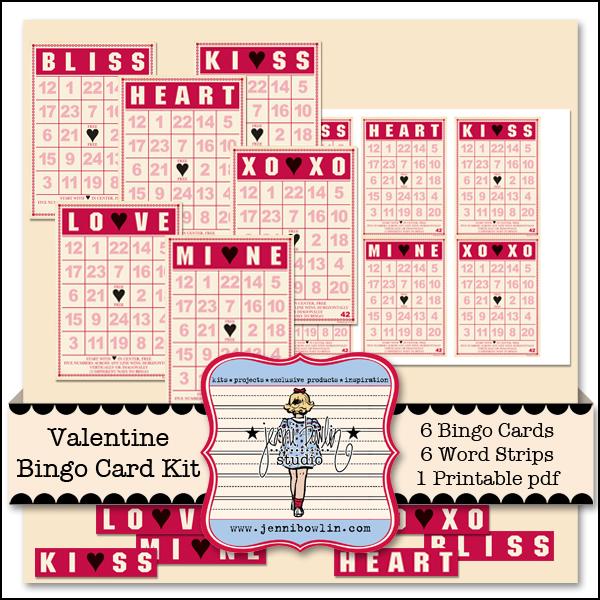 photo about Valentine Bingo Printable named Valentine Bingo Card Package