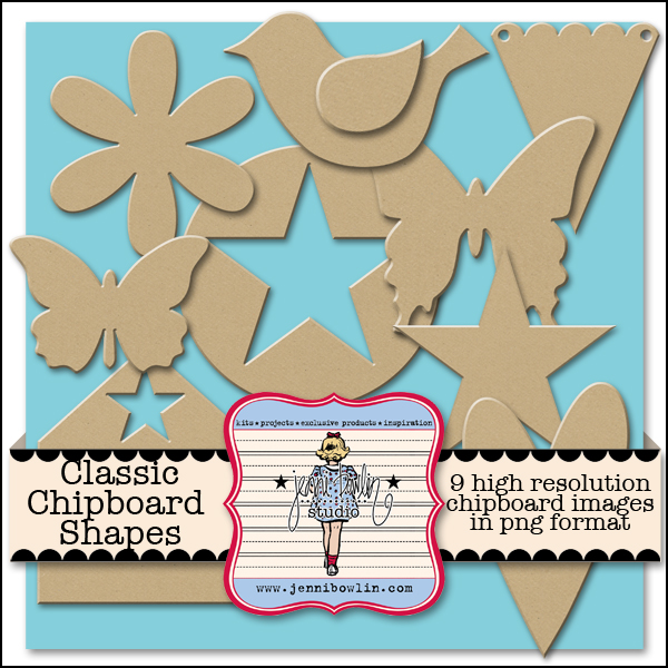 Classic Chipboard Shapes