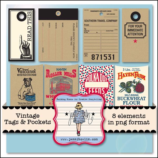 Vintage Tags & Pockets