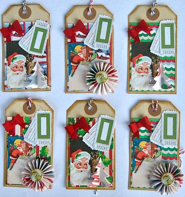 Hybrid Christmas tags by Roelien van den Berg