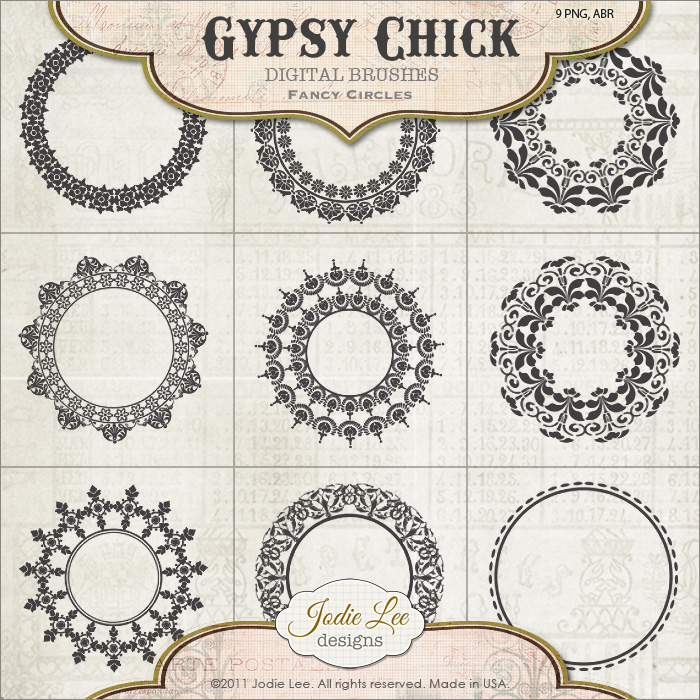 Gypsy Chick Brushes - Fancy Circles