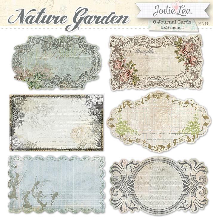 Nature Garden Journal Cards