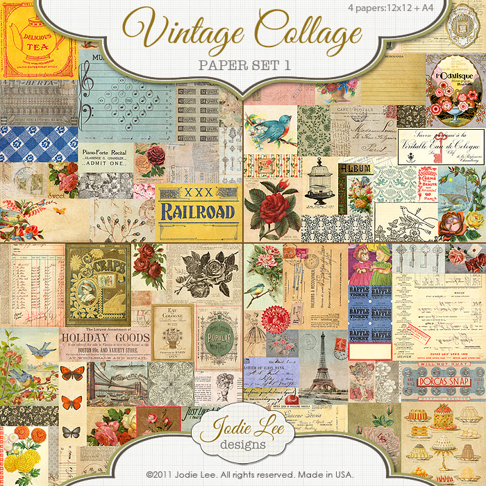 Vintage Collage Papers 1