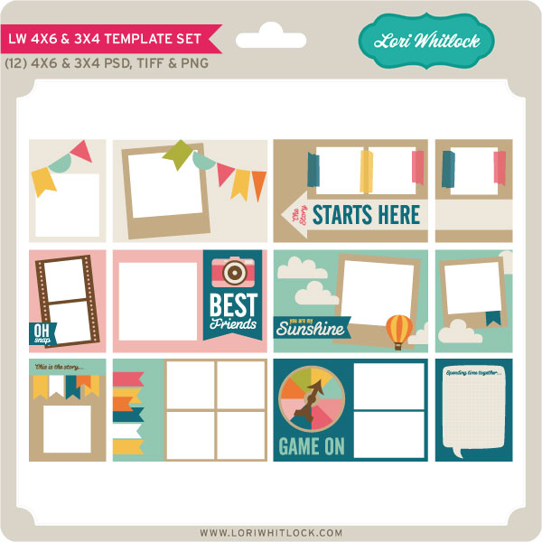4x6 and 3x4 Template Set