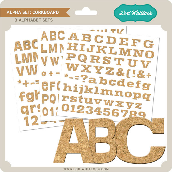 Alpha Set Corkboard