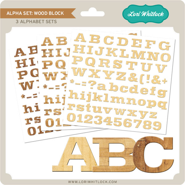 Alpha Set Wood Block