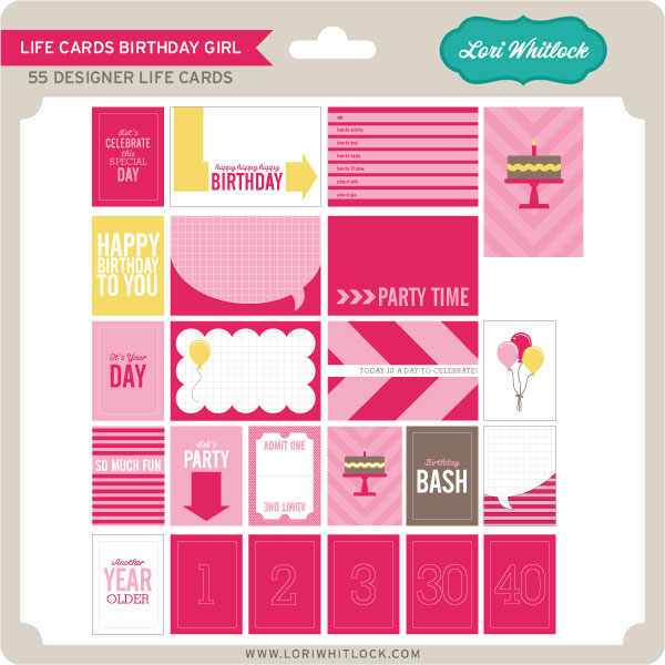 Basics Life Cards Birthday Girl