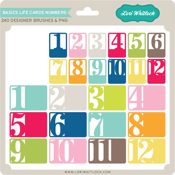 Basics Life Cards Numbers