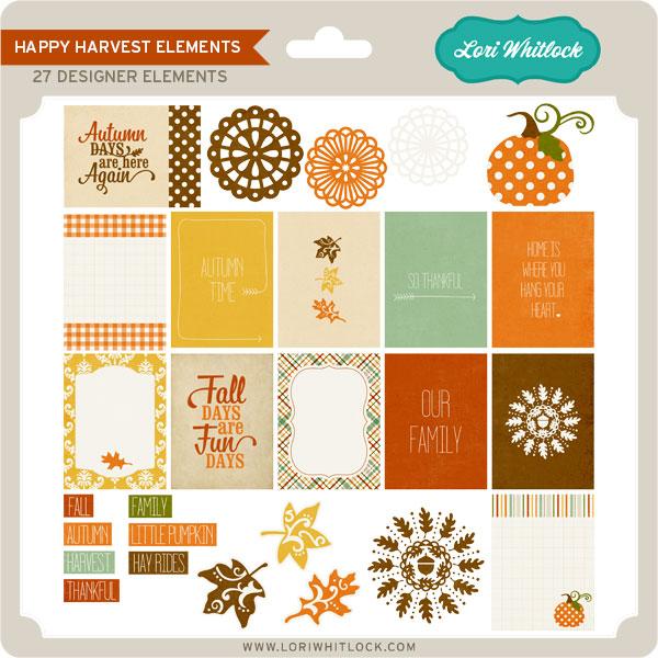 Happy Harvest Elements