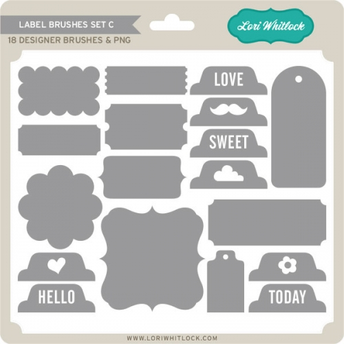 Label Brushes Set C