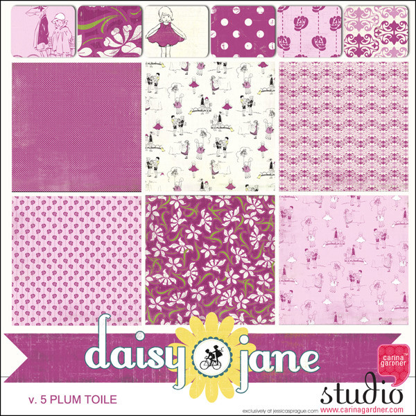 DAISY JANE - Plum Toile