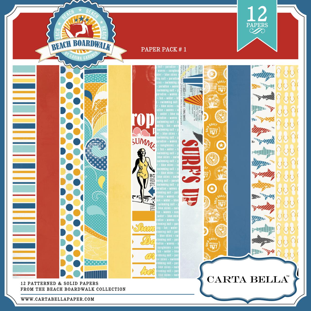 BEACH BOARDWALK Paper Pack 1