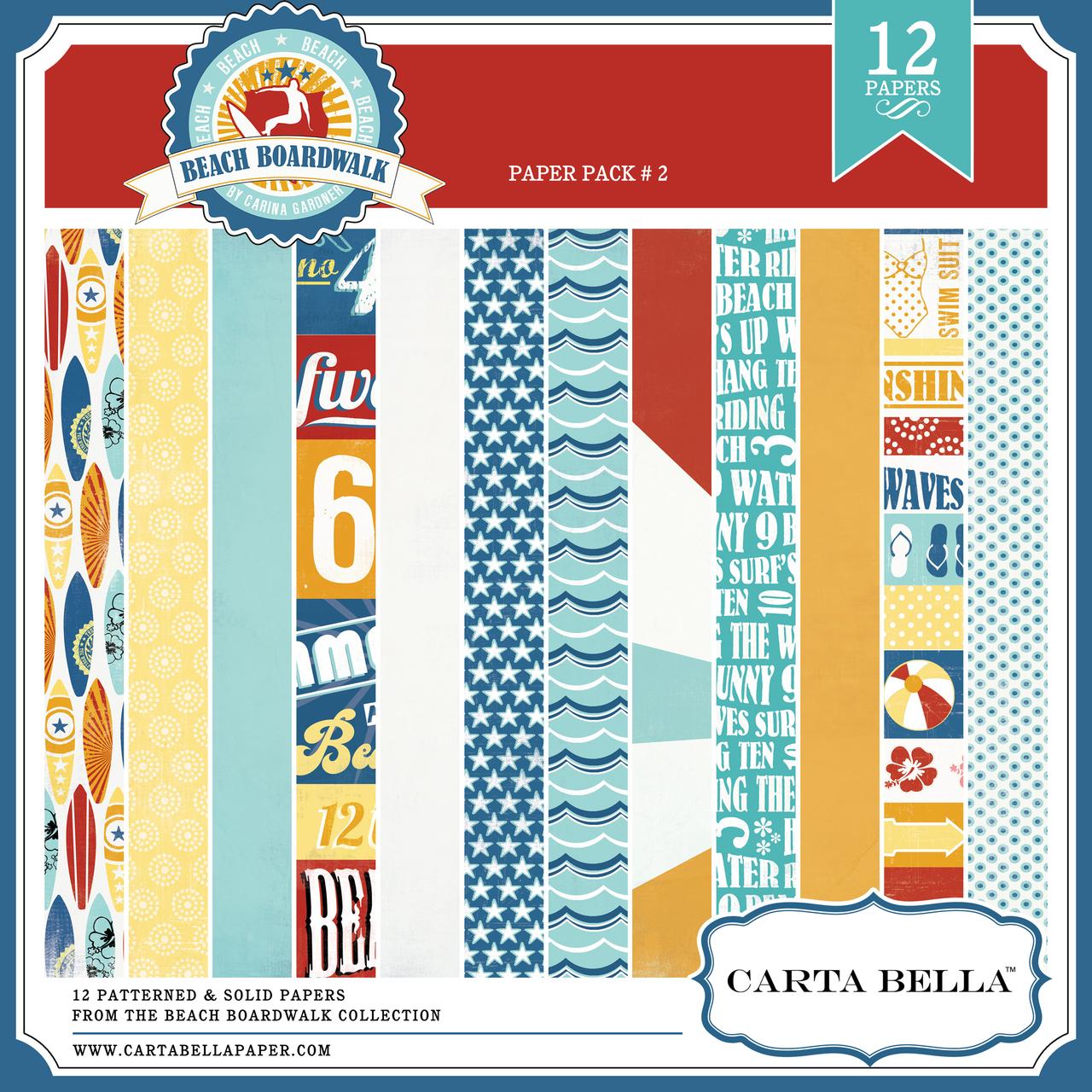 BEACH BOARDWALK Paper Pack 2