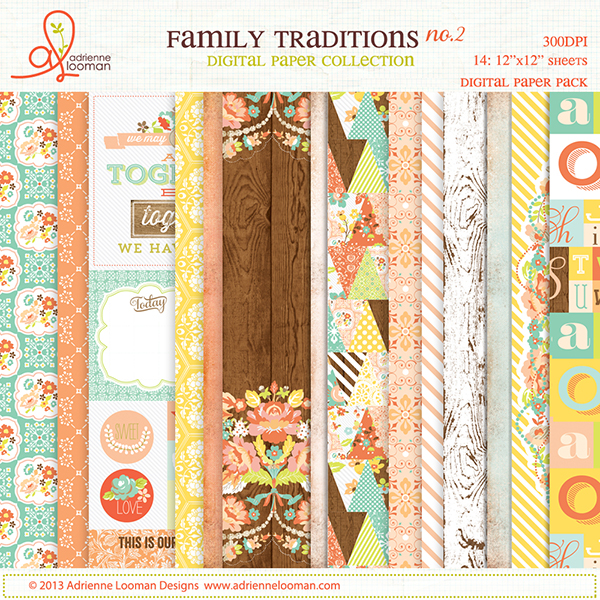 Paper pack 2 Family Traditions