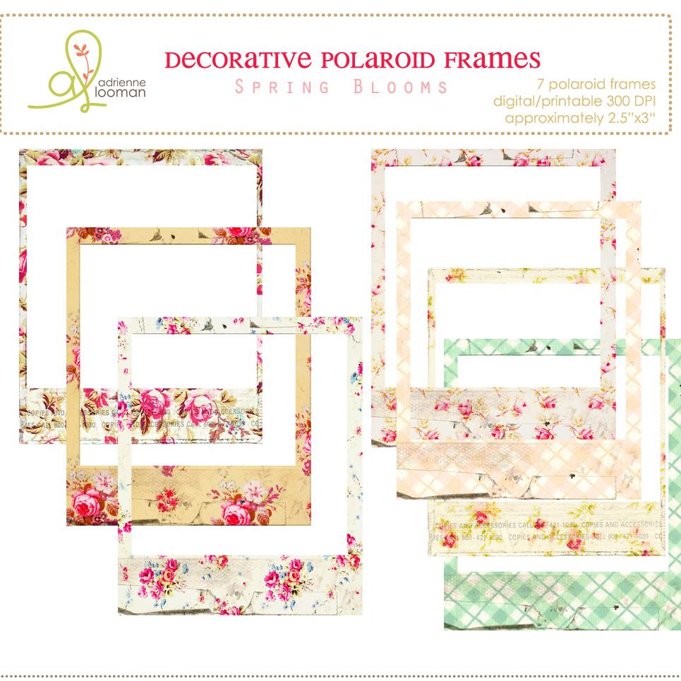 Polaroid frames Spring Blooms
