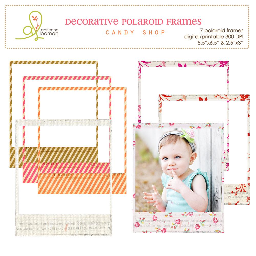 Polaroid frames Candy Shop