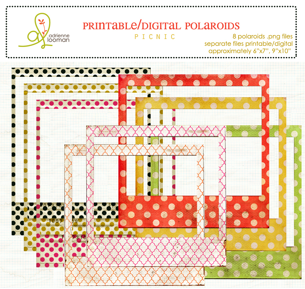 Polaroid frames Picnic