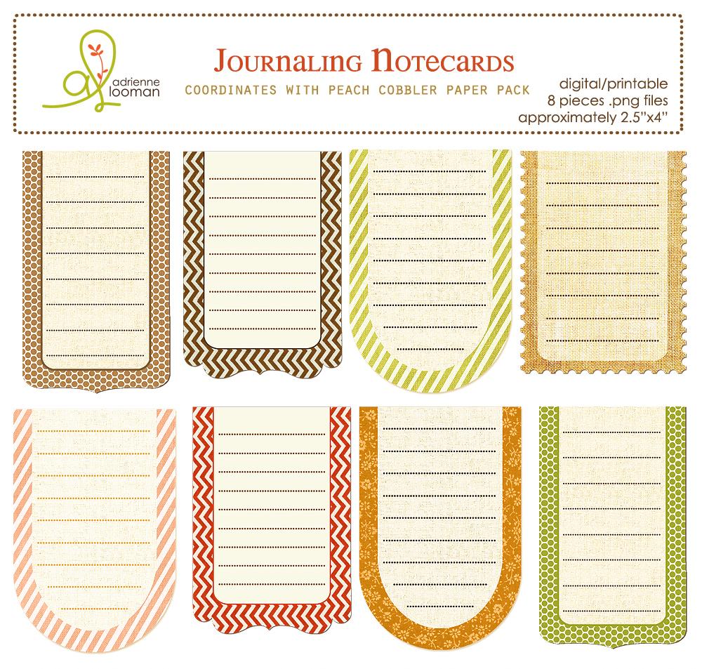 Journaling cards Peach Cobbler
