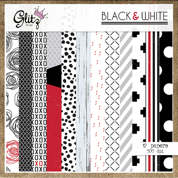 Black & White Paper Pack 2