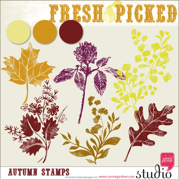 FRESH PICKED AUTUMN STAMPS
