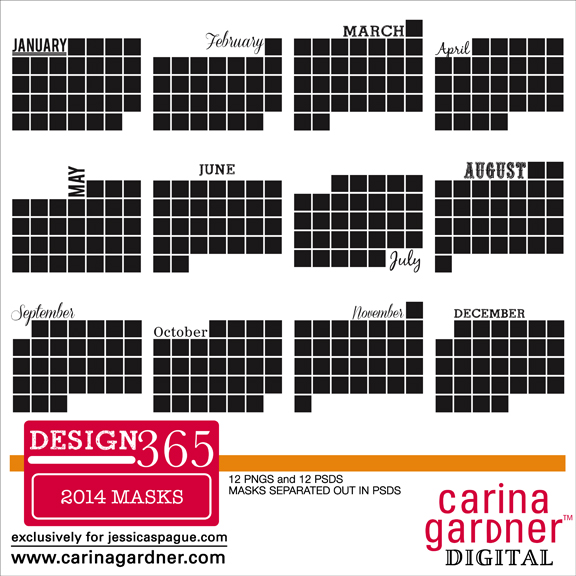 DESIGN 365 2014 A Year of Layouts Masks
