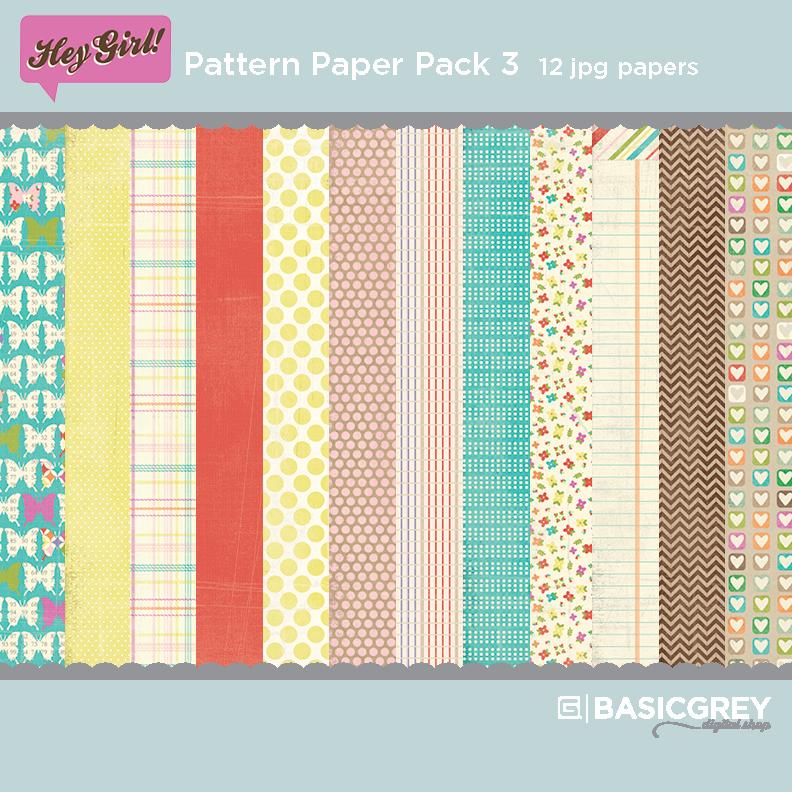 Hey Girl Paper Pack 3