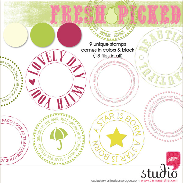 FRESH PICKED - Spring Stamps