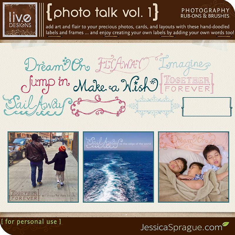 Photo Talk Vol. 1 - Photography Rub-Ons & Brushes