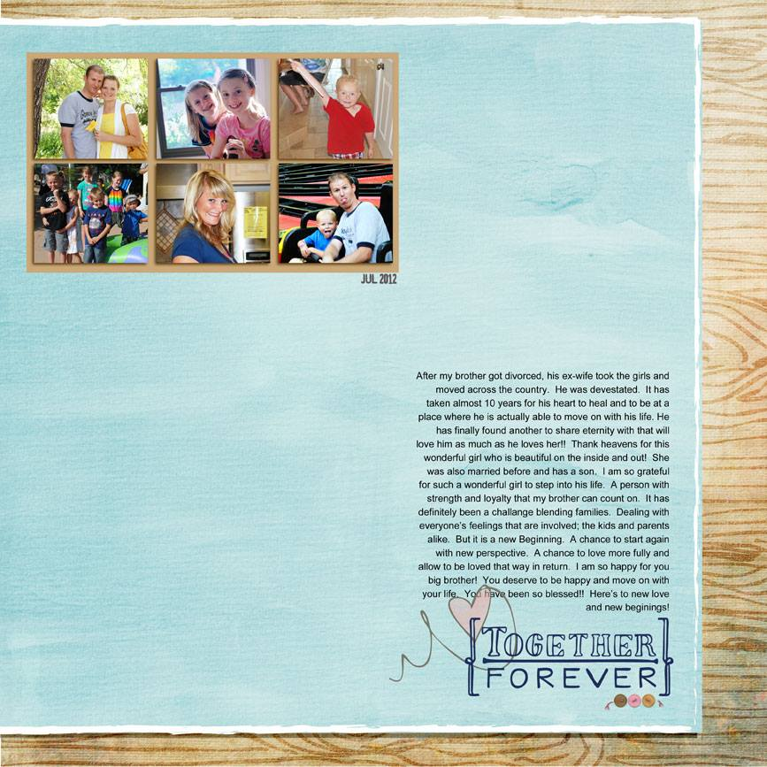 This awesome layout was created by Summer Christiansen