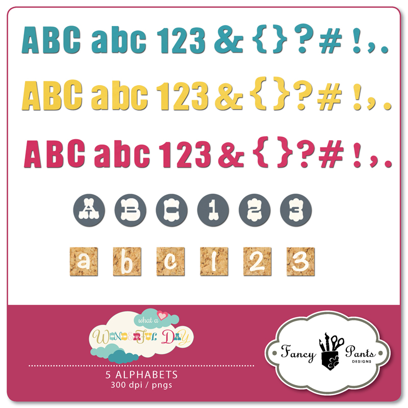 What a Wonderful Day Alphabets