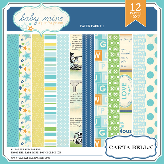 BABY MINE {BOY} Paper Pack 1