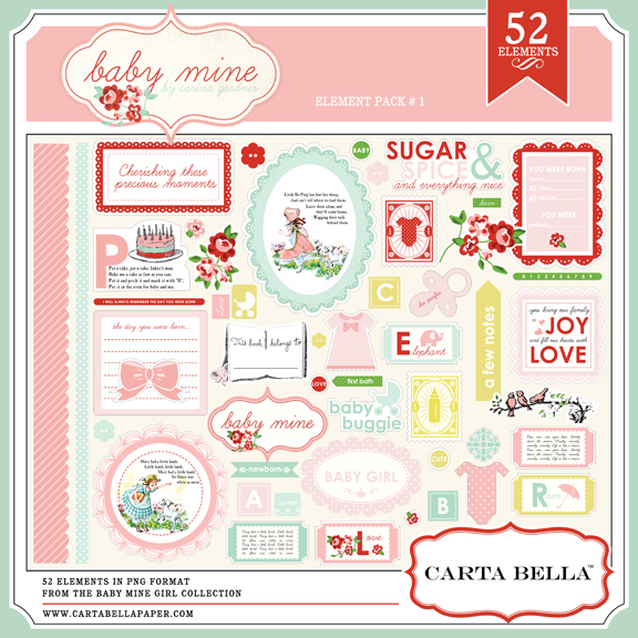 BABY MINE {GIRL} Element Pack 1