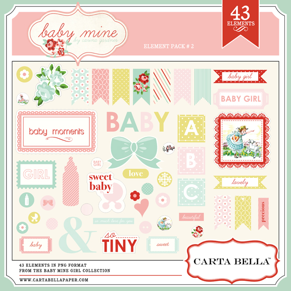BABY MINE {GIRL} Element Pack 2