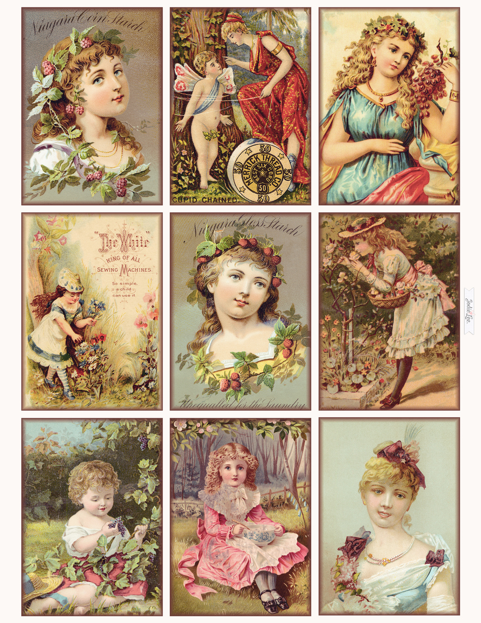 Sweet Vintage Glamor Girls Printable Gift Tags