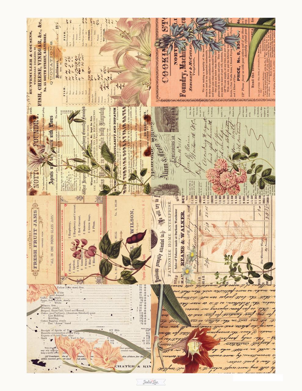 Vintage Botanical Printable Gift Tags