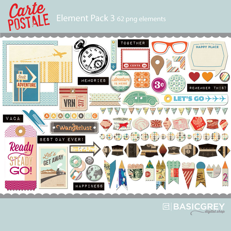 Carte Postale Element Pack 3