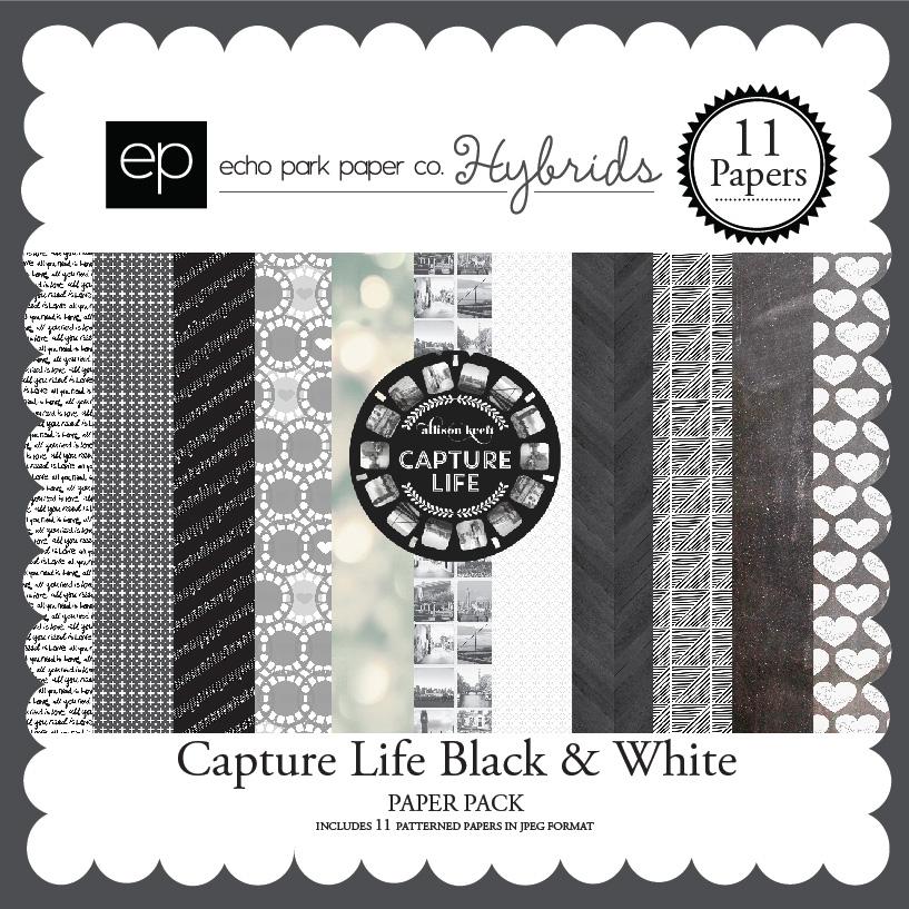 Capture Life Black & White Paper Pack