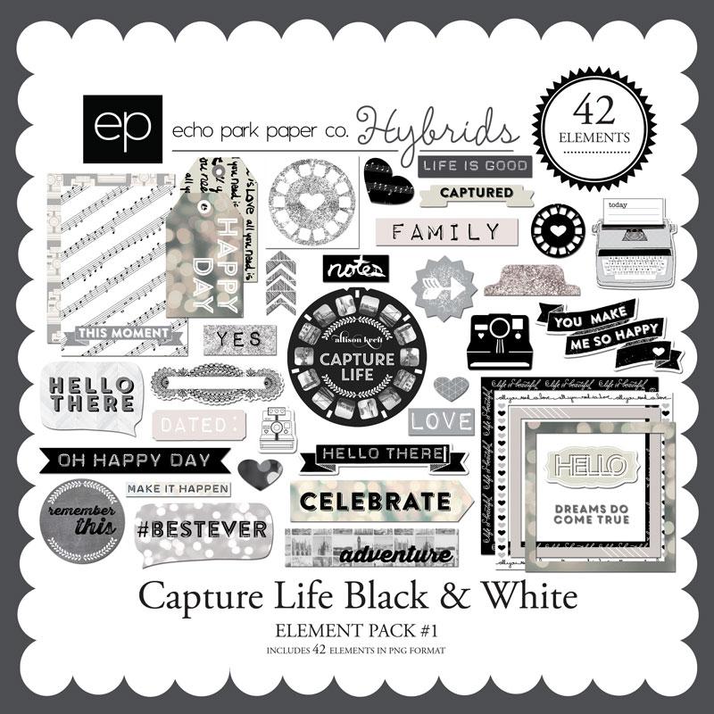 Capture Life Black & White Element Pack #1