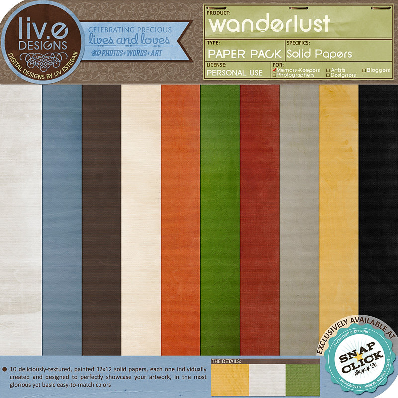 Wanderlust Solid Papers