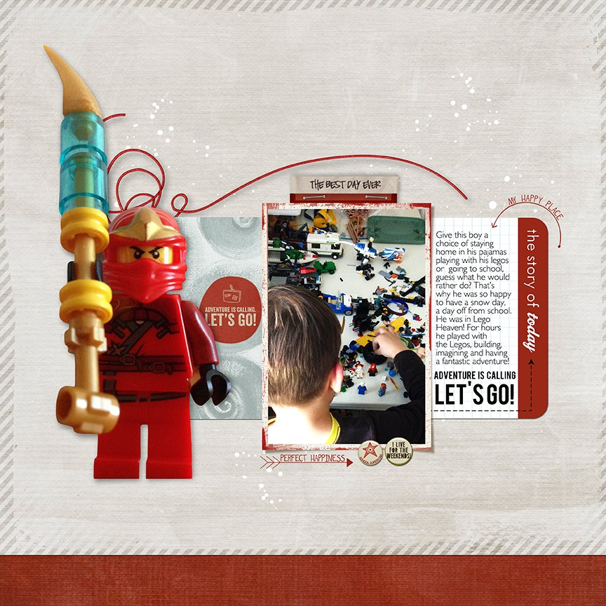 This awesome layout was created by Miki Krueger!