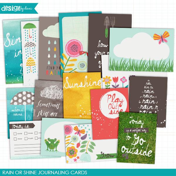 Rain or Shine Journaling Cards